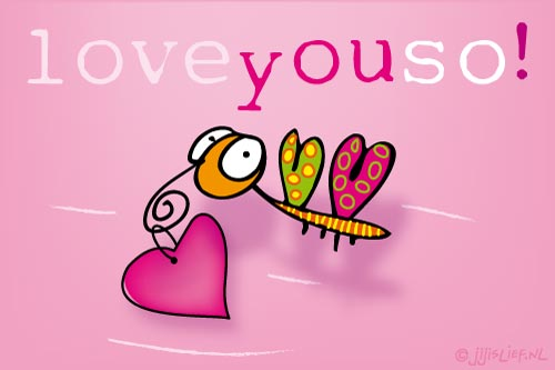 Kaart: Love you so!