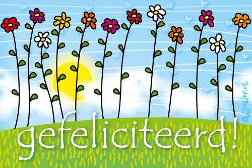 gefeliciteerd card Gefeliciteerd Kaart Gratis   ARCHIDEV gefeliciteerd card