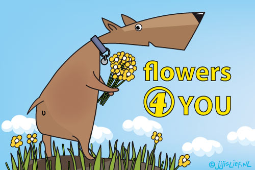 Kaart: Flowers for you