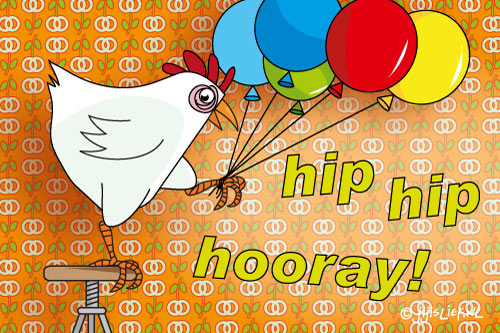 Kaart: Hip hip hooray!